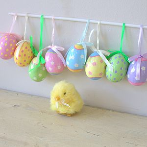 Set Of Eight Candy Coloured Easter Eggs - easter decorations