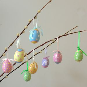 Set Of Eight Pastel Easter Eggs - easter home