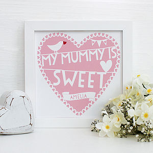 Personalised My Mummy Is…Framed Print - gifts from younger children