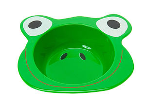 Large Funny Frog Breakfast Plate