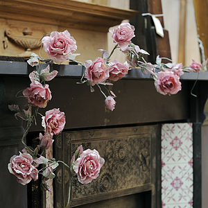 Fabric Rose Flower Garland