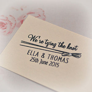 We're Tying The Knot Customised Rubber Stamp - stationery