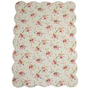 White Floral Single Bed Quilt