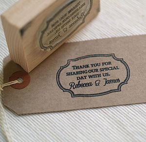 Frame Design Wedding Favour Stamp - personalised