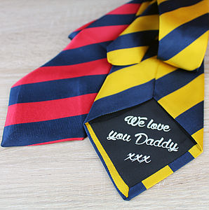 Personalised Striped Tie - ties & tie clips