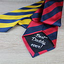 Personalised Striped Tie
