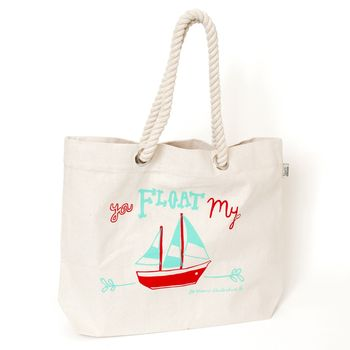 'You Float My Boat' Beach Bag