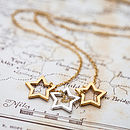 Gold Triple Stars Necklace