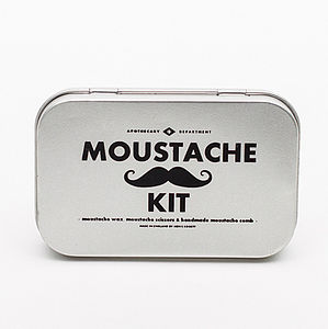 Moustache Grooming Kit - gifts for fathers