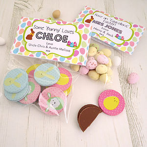 Easter Treats Bag Toppers - personalised