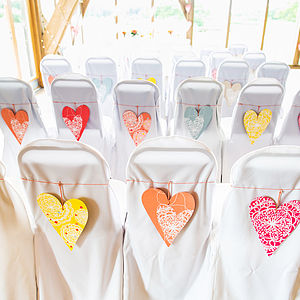 A5 Coloured Heart Multipack - table decorations