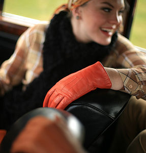 Mabel. Warm Lined Leather Gloves - gloves