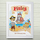 Personalised Little Pirate Print Or Canvas