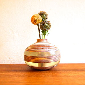Mini Hand-Turned Wood Vase - table decorations