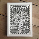 Personalised Love Tree Papercut With Bunting