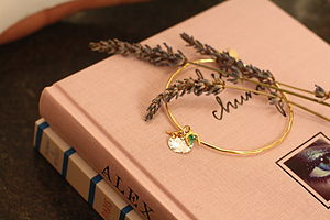 Lucky Cluster Gold Bangle - bracelets & bangles