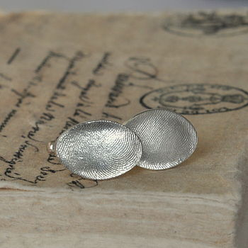Fingerprint Wedding Cufflinks