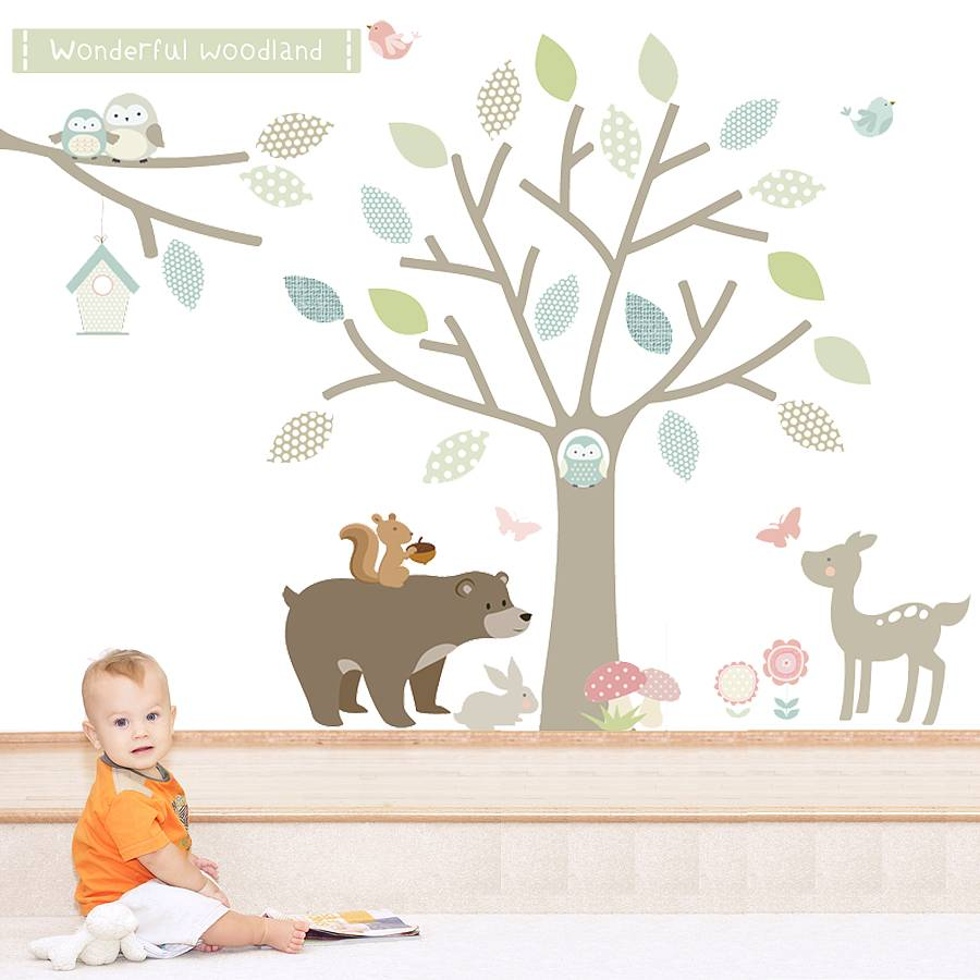 Wonderful Woodland Fabric Wall Stickers   Wall Stickers
