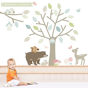Wonderful Woodland Fabric Wall Stickers