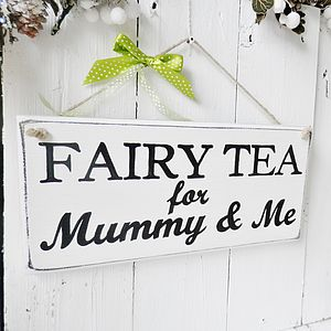 Mummy And Me Wood Sign Personalised - art & decorations