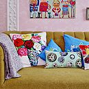 Large Roses Print Cushion