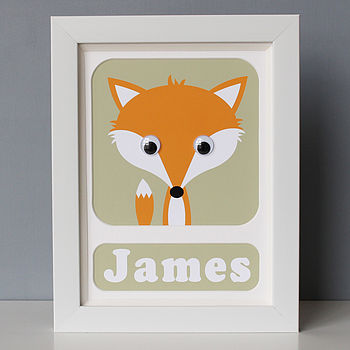 Personalised Framed Animal Print