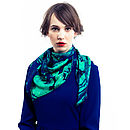 Winter Forest Silk Scarf