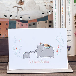 'To A Wonderful Mum' Greetings Card
