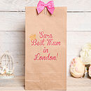 Best Mum Personalised Gift Bag