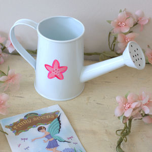 Mini Watering Can With Flower Design