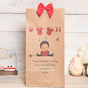 Mum To Be, New Mum Personalised Gift Bag - wrapping