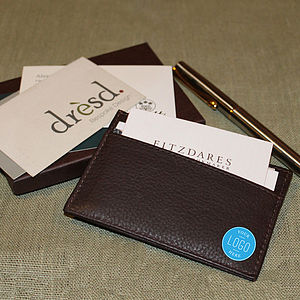 Corporate Gift Leather Card Holder - personalised