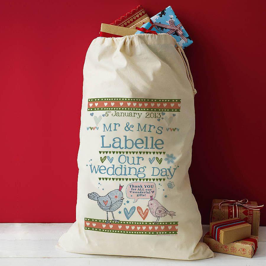 Wedding Gift Delivery Uk : personalised wedding gift sack by alice palace notonthehighstreet ...