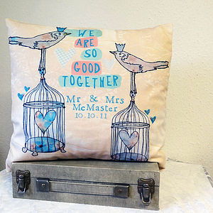 Good Together Personalised Cushion - 4th anniversary: linen
