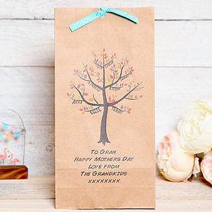 Personalised Family Tree Gift Bag Mothers Day