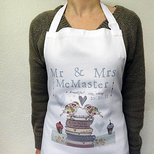 Love Story Personalised Apron - aprons