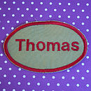 Personalised Embroidered Name Patches