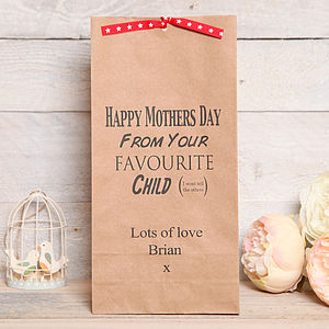 Personalised Mothers Day Favourite Child Bag - gift bags & boxes
