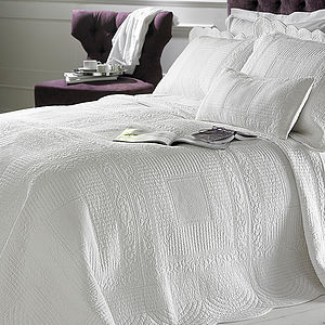 Naples Cotton Quilted Bedspread - bed, bath & table linen