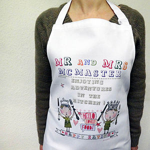 Personalised Kitchen Adventures Apron - aprons