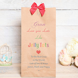 Love You Lots Like Jelly Tots Gift Bag - ribbon & wrap