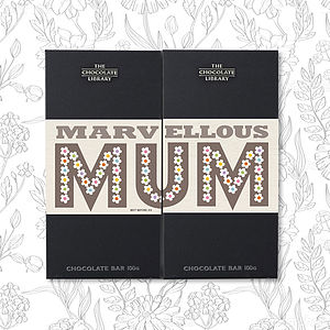 Mother's Day Twin Bars Of Chocolate - chocolates