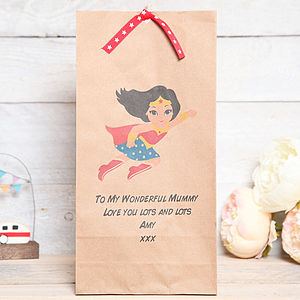 Birthday Wonder Or Super Mum Gift Bag - cards & wrap