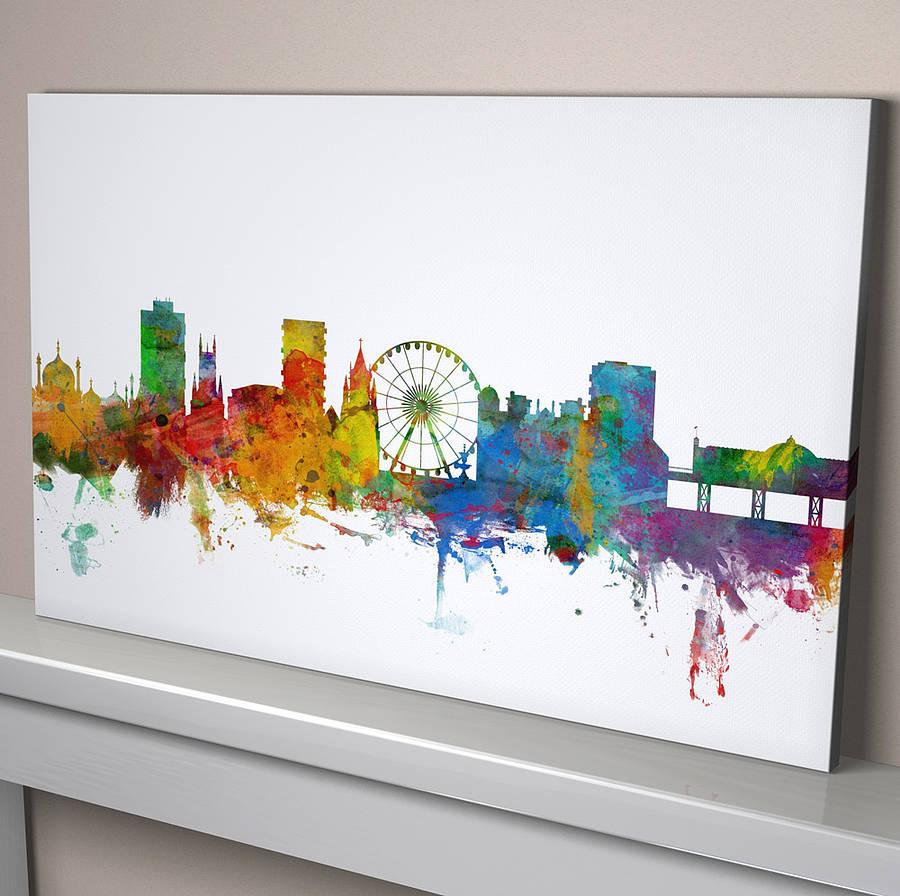 Brighton England Skyline Cityscape By Artpause
