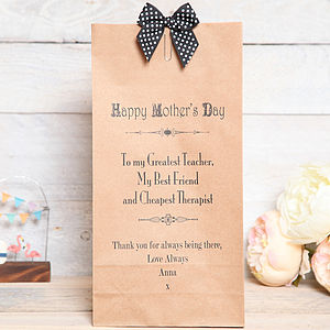 Mothers Day Personalised Message Bag - gift bags & boxes