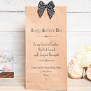 Mothers Day Personalised Message Bag