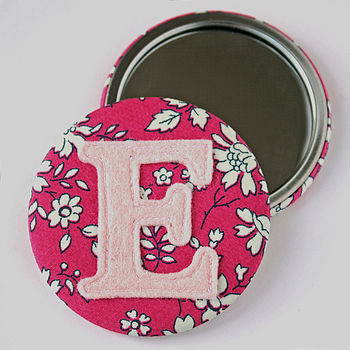 Pink Liberty fabric mirror