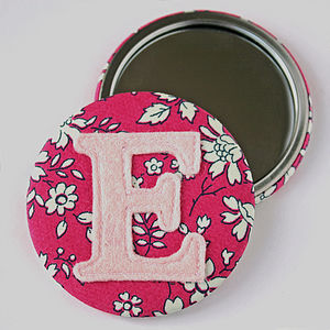 Liberty Initial Mirror - flower girl gifts