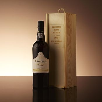 Fine Port In A Personalised Wooden Gift Box