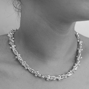 Peppercorn Solid Silver Necklace